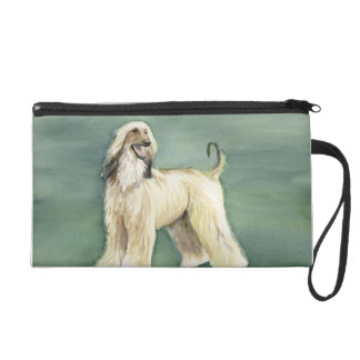 Afghan Hound Dog Art Wristlet