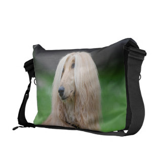 Afghan Hound dog beautiful photo messenger bag