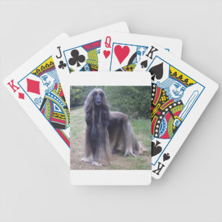 Afghan Hound Dog Bicycle Playing Cards