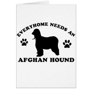 Afghan Hound dog breed design Card