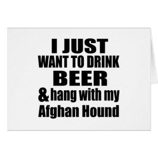Afghan Hound Dog Designs Card