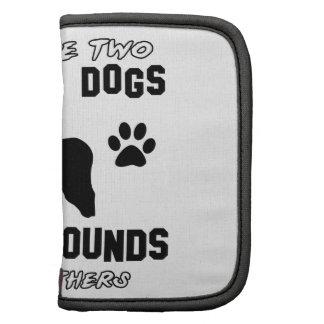 Afghan Hound dog designs Folio Planners