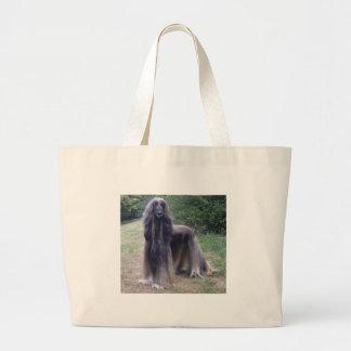 Afghan Hound Dog Large Tote Bag