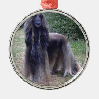 Afghan Hound Dog Metal Ornament