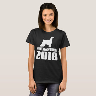 Afghan Hound Dog Of The Year 2018 T-Shirt