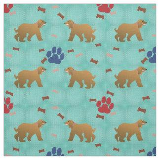 Afghan Hound Fabric