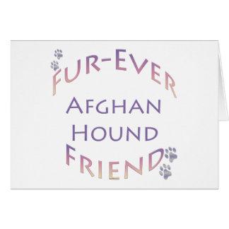 Afghan Hound Furever Card