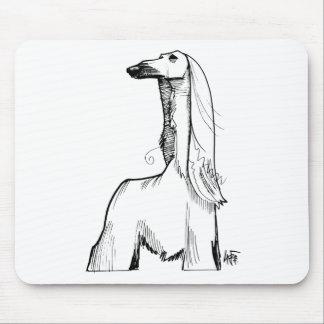 Afghan Hound Gesture Sketch Mouse Pad