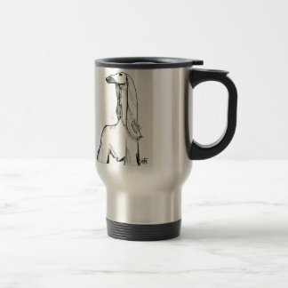 Afghan Hound Gesture Sketch Travel Mug