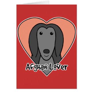 Afghan Hound Lover Card