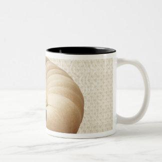 Afghan hound lying on sofa Two-Tone coffee mug