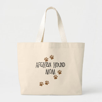 Afghan Hound Mom Large Tote Bag