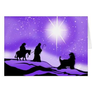 Afghan Hound Night Divine Card