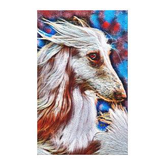 Afghan Hound Oil Portrait Canvas Print