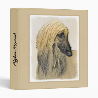 Afghan Hound Painting - Cute Original Dog Art Binder