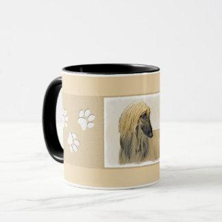 Afghan Hound Painting - Cute Original Dog Art Mug