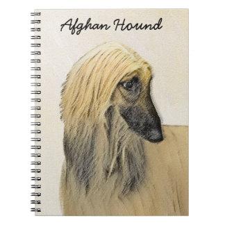 Afghan Hound Painting - Cute Original Dog Art Notebook