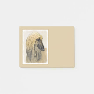 Afghan Hound Painting - Cute Original Dog Art Post-it Notes
