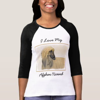 Afghan Hound Painting - Cute Original Dog Art T-Shirt