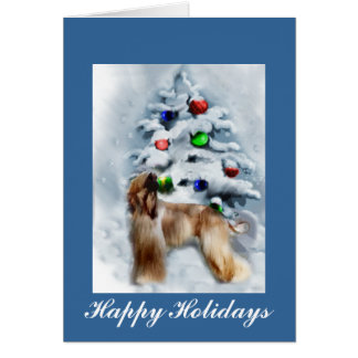 Afghan Hound Personalized Christmas Cards