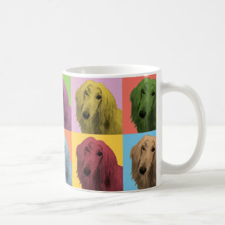 Afghan Hound Pop-Art Coffee Mug