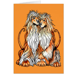 Afghan Hound Puppy Love Card