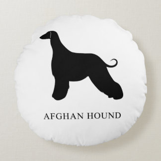 Afghan Hound Round Pillow
