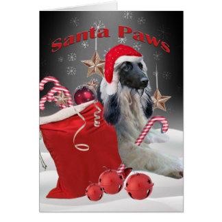 Afghan Hound Santa Paws Cards
