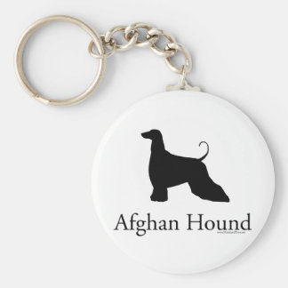 Afghan Hound Silhouette Keychain