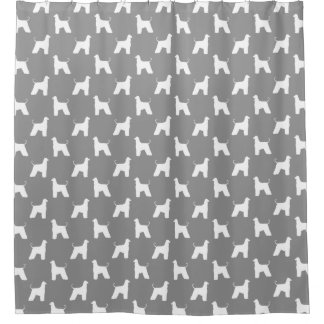 Afghan Hound Silhouettes Pattern Grey