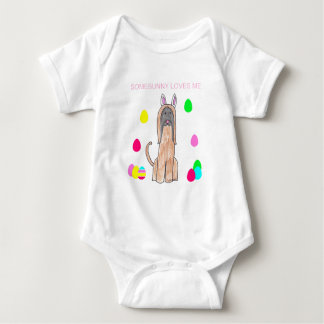 Afghan Hound Somebunny Loves Me Baby Bodysuit