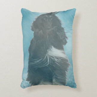 Afghan Hound Wind and Rain Blown Decorative Pillow