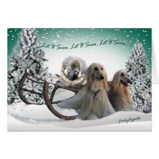 AFGHAN LET IT SNOW, LET IT SNOW CARDS