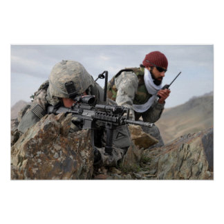 Afghan Military Soldier Cool Warriors Poster
