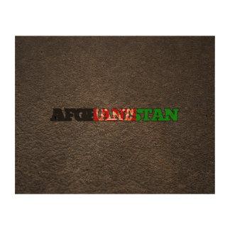 Afghan name and flag cork paper prints