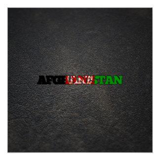 Afghan name and flag perfect poster