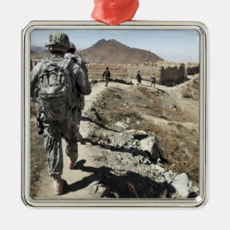 Afghan National Army and US soldiers Metal Ornament
