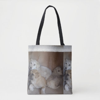 Afghan Puppies Tote Bag