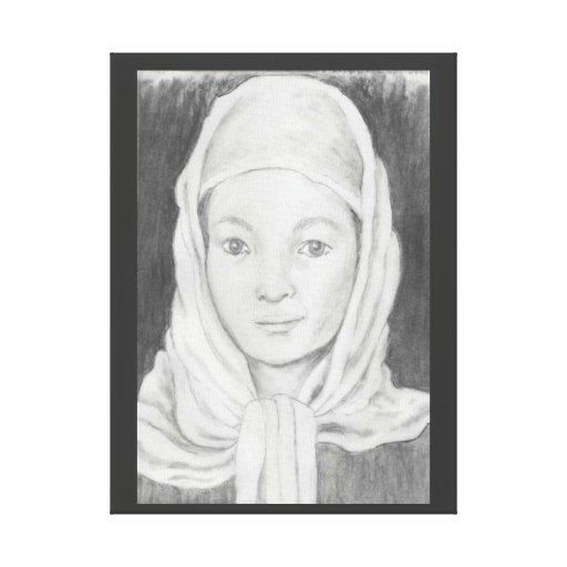 Afghan School Girl Stretched Canvas Print