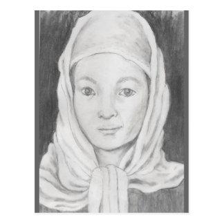 Afghan Schoolgirl Postcard