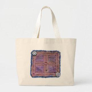 Afghan Vintage Textile: Purple Jumbo Tote Bag