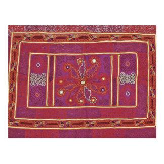 Afghan Wedding Textile Postcard