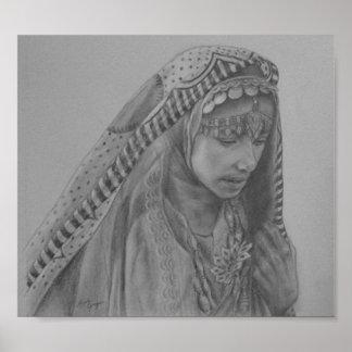 Afghan Woman Poster