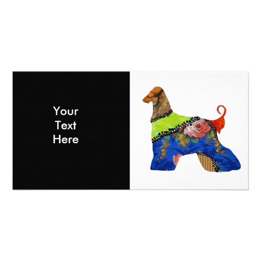 AfghanHound Patchwork Pet Photo Card
