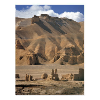 Afghanistan, Bamian Valley. Ancient earthen Postcard