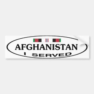 AFGHANISTAN BUMP STICKER