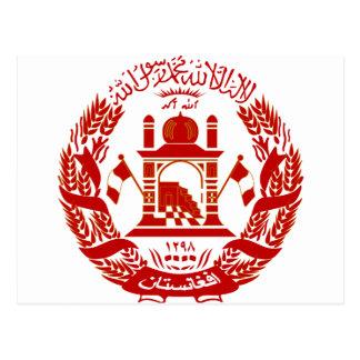 Afghanistan Coat of arm AF Postcard