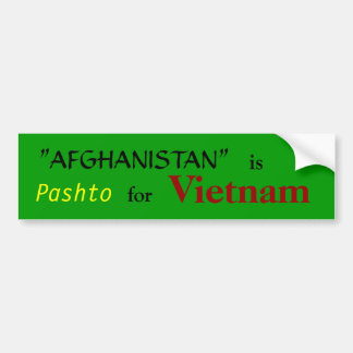 Afghanistan Definition Bumper Sticker