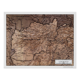 Afghanistan Detailed Map 1999 Poster