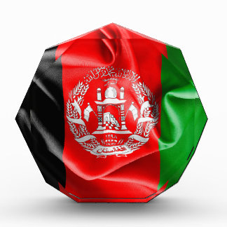 Afghanistan Flag Acrylic Octagon Award